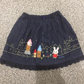mikihouse - おてがみうさこのデニムスカート
