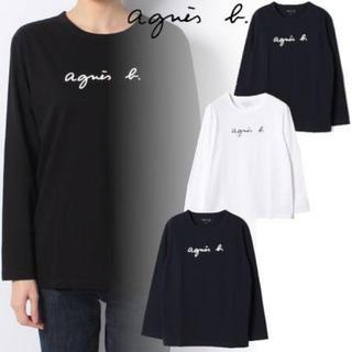 agnes b. - 【シンプルかつ上品♡】アニエスベー ロゴT  長袖 黒