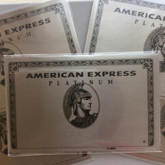 4枚セット!アメックス プラチナ ミラー アメリカンエキスプレス  ノベルティ  エンタメ/ホビーのコレクション(ノベルティグッズ)の商品写真