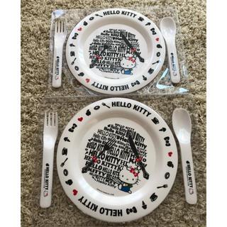 ハローキティ(ハローキティ)のハローキティ お皿セットです(キャラクターグッズ)