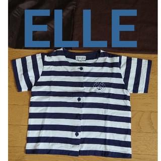 エル(ELLE)のボーダー マリン Tシャツ 半袖 120cm キッズ ELLE エル(Tシャツ/カットソー)