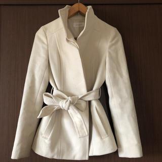 anySiS - アンゴラ20 % オフホワイト ショート コート