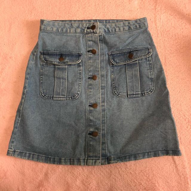 GU(ジーユー)の【美品】デニムスカート レディースのスカート(ひざ丈スカート)の商品写真