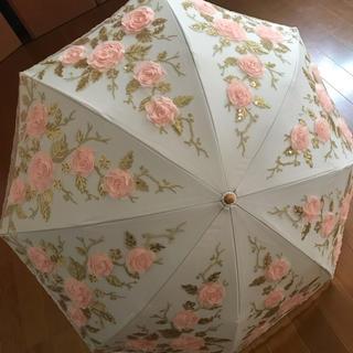 バラ柄 日傘 ロリータ 折り畳み