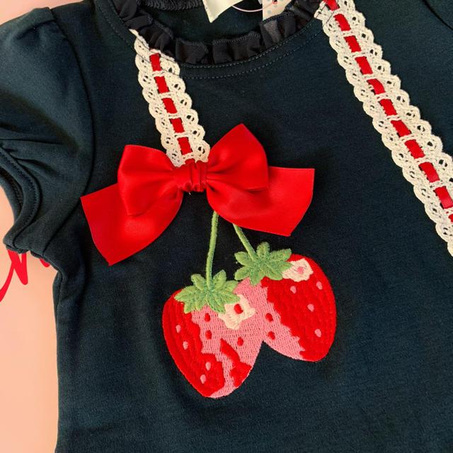Shirley Temple(シャーリーテンプル)の🌸専用🌸シャーリーテンプル🎀カットソーワンピース🍓100センチ キッズ/ベビー/マタニティのキッズ服女の子用(90cm~)(ワンピース)の商品写真