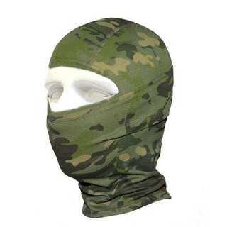 森林 迷彩 目だし帽じゃない 高機能 3Way フェイスマスク ネックウォーマー(その他)