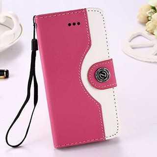 スマホケース ピンク iphone 6/6s 手帳型 マグネット シンプル 保護(iPhoneケース)
