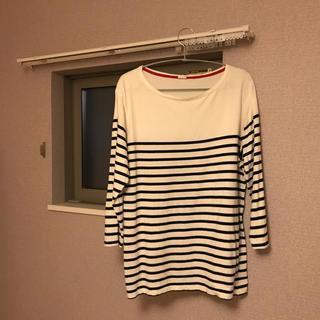 ジーユー(GU)のボーダーカットソー(GU)7分袖(Tシャツ/カットソー(七分/長袖))