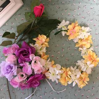 造花 セット売り 別売り フラワーレース 花かんむり(ドライフラワー)