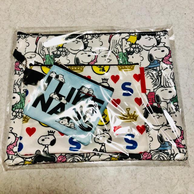 PEANUTS(ピーナッツ)の新品 スヌーピー ポーチ 3点セット! レディースのファッション小物(ポーチ)の商品写真