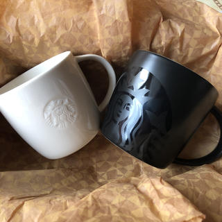 Starbucks Coffee - スターバックス  ロゴマグ マグブラック 2個セット マグカップ