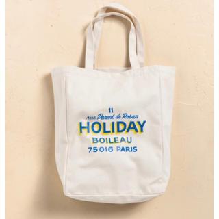 アパルトモンドゥーズィエムクラス(L'Appartement DEUXIEME CLASSE)の【HOLIDAY】Tote Bag  HOLIDAY トートバッグ(トートバッグ)