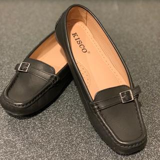 キスコ KISCO 【本革】ローファー(黒)ほぼ新品 日本製 箱なし お値下げ中(ローファー/革靴)
