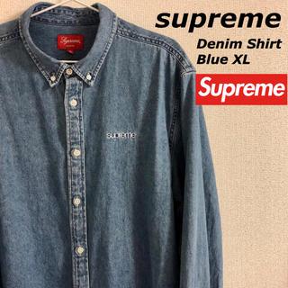 Supreme - 希少 Supreme 19FW Denim Shirt Blue XL