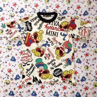 HYSTERIC MINI - ダークホワイト 110 今季 総柄Tシャツ