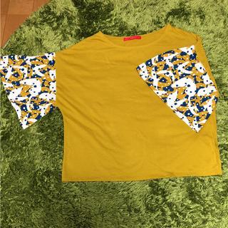グラニフ(Design Tshirts Store graniph)のグラニフ 五分袖 辛子色 トップス(カットソー(半袖/袖なし))