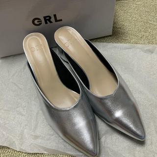 GRL - GRL シルバー サンダル 24.5cm