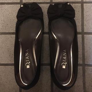 ダイアナ(DIANA)のリボン付き黒パンプス(ハイヒール/パンプス)