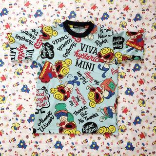 HYSTERIC MINI - サックス 110 今季 総柄Tシャツ