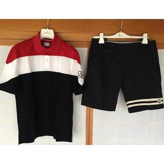 モンクレール(MONCLER)のモンクレール ガムブルー ポロシャツ&パンツ セット(ポロシャツ)