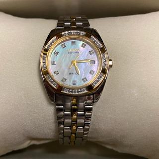 シチズン(CITIZEN)のCITIZEN Eco Driveウォッチ シェル文字盤 ダイヤモンド付(腕時計)