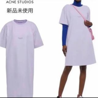 アクネ(ACNE)のアクネストゥディオズ Acne Studios ロゴ Tシャツワンピ XS(Tシャツ(半袖/袖なし))