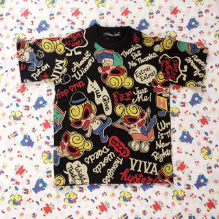 HYSTERIC MINI - ブラック 105 今季 総柄Tシャツ