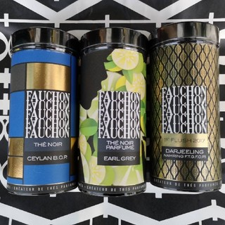 Fauchon フォション 紅茶缶 茶葉 3本おまとめセット(茶)
