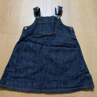 PETIT BATEAU - プチバトー  デニム ジャンパースカート 24m 86cm