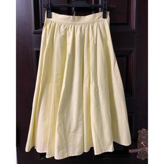 エベルモーション(EBELE MOTION)の【未使用】EBELE MOTION フレアスカート 黄色(ひざ丈スカート)