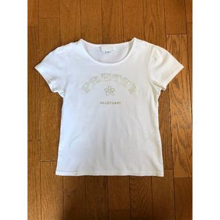 ジルスチュアート(JILLSTUART)の【美品】ジルスチュアート ブランドロゴTシャツ半袖カットソーS(Tシャツ(半袖/袖なし))
