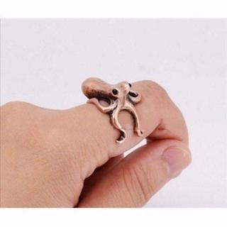 ♪♪ とってもユニークな蛸 アンティーク銅(リング(指輪))