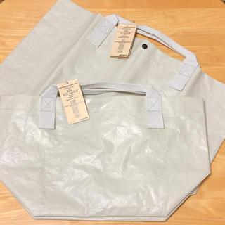 MUJI (無印良品) - 無印良品 ポリエチレンシート トートバッグ大小セット(ホワイト)