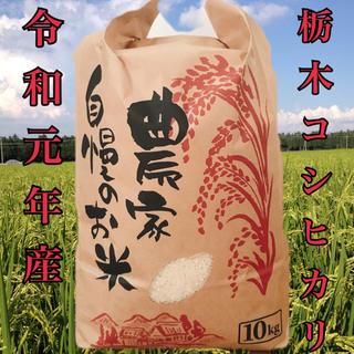 令和元年度 栃木県産新米コシヒカリ10キロ(米/穀物)