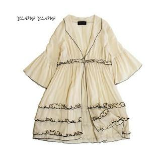 イランイラン(YLANG YLANG)のイランイラン■フリル カーディガン 羽織り アイボリー(カーディガン)