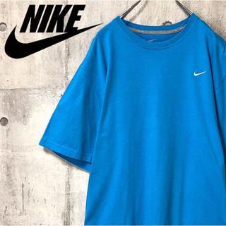 NIKE - ナイキ NIKE 半袖Tシャツ 刺繍ロゴ ビッグサイズ 2XL レアカラー 水色