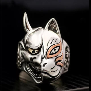 般若と狐 和風歌舞伎者リング(リング(指輪))