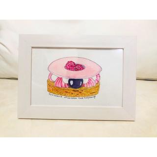 ラズベリーとブラックベリーのピンクケーキ(雑貨)