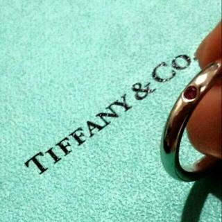 ティファニー(Tiffany & Co.)のティファニー  ピンクサファイアリング (リング(指輪))