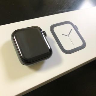 アップルウォッチ(Apple Watch)のApple Watch SERIES4 スペースグレイ ブラックスポーツバンド (腕時計(デジタル))