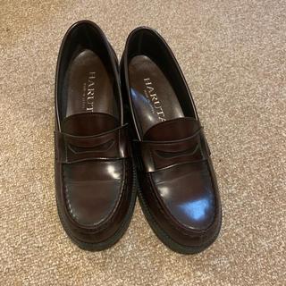 ハルタ(HARUTA)のハルタ ブラウン ローファー ヒール 革靴(ローファー/革靴)