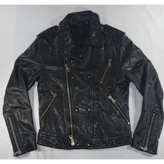バーバリーブラックレーベル(BURBERRY BLACK LABEL)の美品 バーバリー ブラックレーベル レザー ダブル ライダース ジャケット(ライダースジャケット)