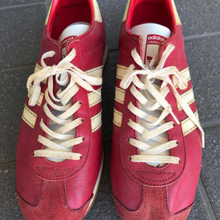 アディダス(adidas)のadidas カントリー 日本製 赤レザー 27.5㎝(スニーカー)