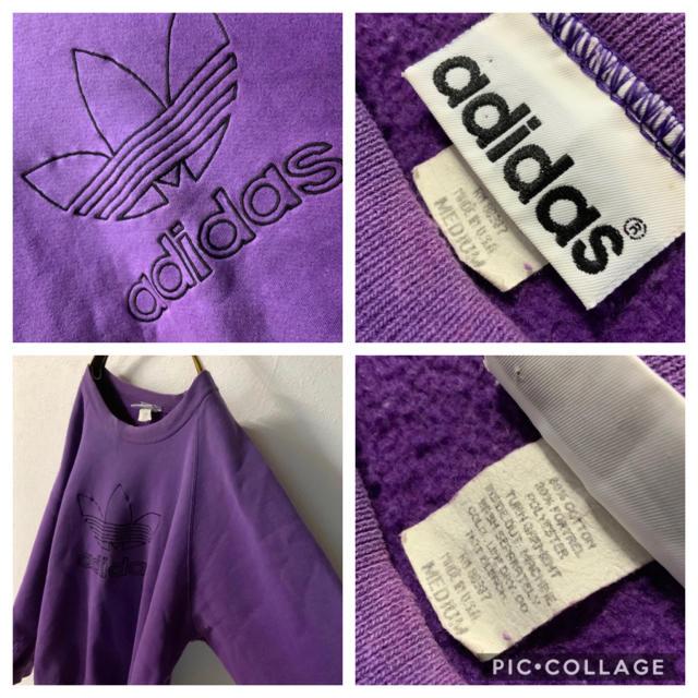 adidas(アディダス)の【希少】90's USA製 adidas ビッグシルエット 太アーム スウェット メンズのトップス(スウェット)の商品写真