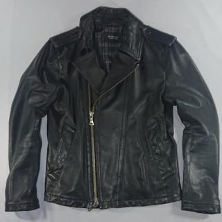 バーバリーブラックレーベル(BURBERRY BLACK LABEL)の美品 バーバリー ブラックレーベル レザー ライダース ジャケット(ライダースジャケット)