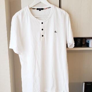 バーバリー(BURBERRY)のBURBERRY LONDON  sizeLL ヘンリーネックシャツ(Tシャツ/カットソー(半袖/袖なし))