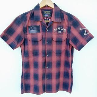 バンソン(VANSON)のVANSON バンソン 半袖 刺繍 シャツ S(シャツ)