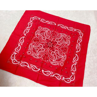 シマムラ(しまむら)のしまむら バンダナ スカーフ 赤色 赤 レッド(バンダナ/スカーフ)