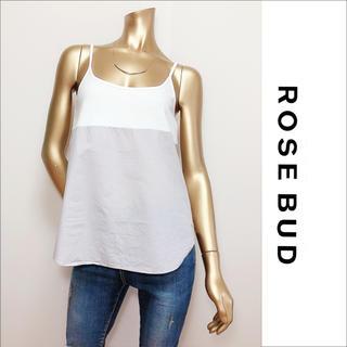 ROSE BUD - ROSE BUD シャツ切替 フレア キャミソール♡ザラ ユナイテッドアローズ