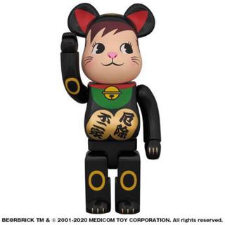 メディコムトイ(MEDICOM TOY)のBE@RBRICK 招き猫 ポコちゃん 黒 400%(キャラクターグッズ)